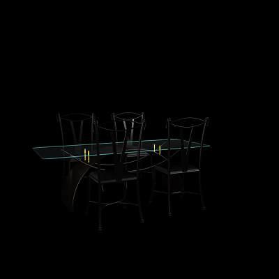 桌椅组合74