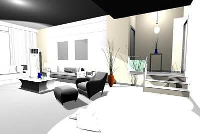 3D客厅模型下载 (1)