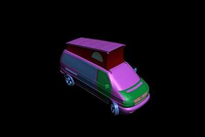 面包车3D模型