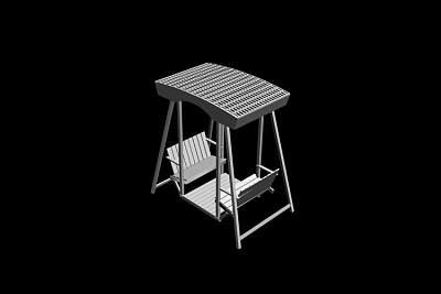 秋千椅3D模型