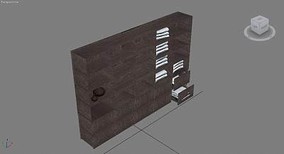漂亮的大浴柜3D模型
