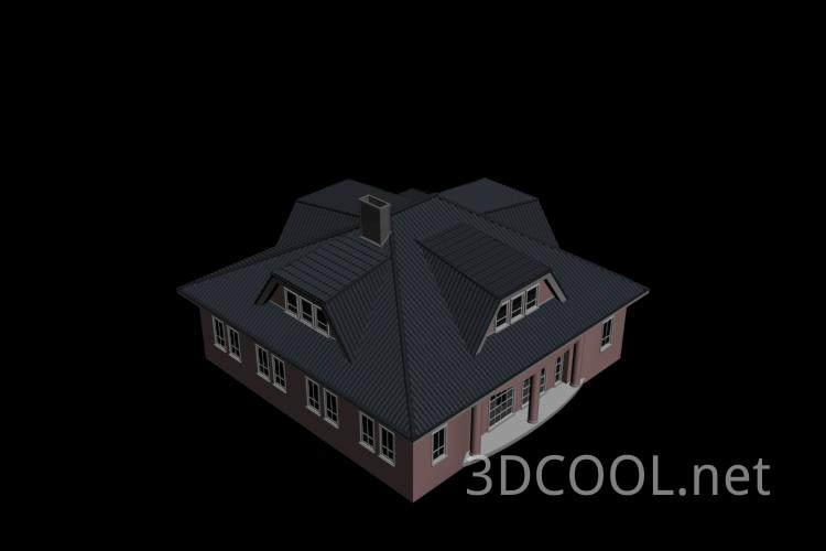 很细致的别墅3D模型