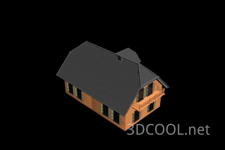 精致的别墅3D模型下载
