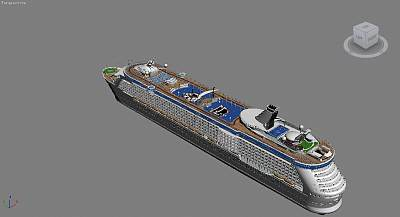 大型游轮3D模型下载