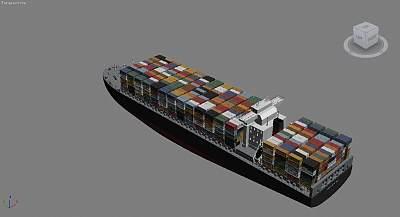 货轮3D模型