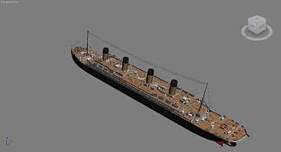 邮轮3D模型