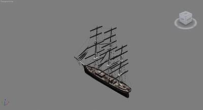 3D帆船模型