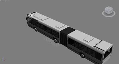 加长公交车3D模型