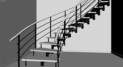 3D模型-时尚楼梯