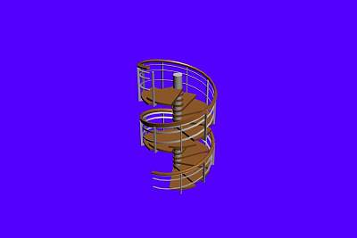 3D模型-极品旋转楼梯