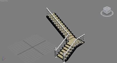 3D模型-欧式楼梯