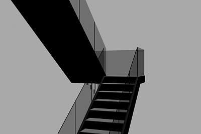 3D模型-玻璃扶手楼梯