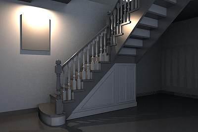 3D模型-田园风格楼梯