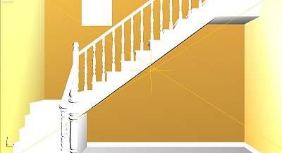 3D模型-简欧转角楼梯