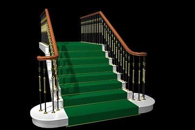 3D模型-豪华楼梯