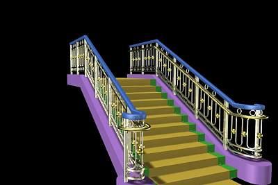 3D模型-豪华的古典欧式楼梯