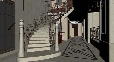3D模型-高级别墅楼梯