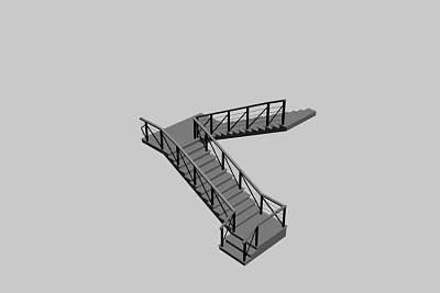 3D模型下载-品质粗糙的楼梯
