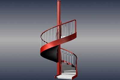 3D模型下载-相当不错的旋转楼梯