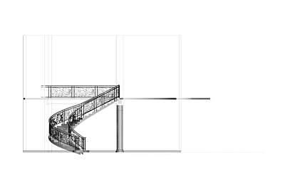 3D模型下载-豪华的别墅楼梯
