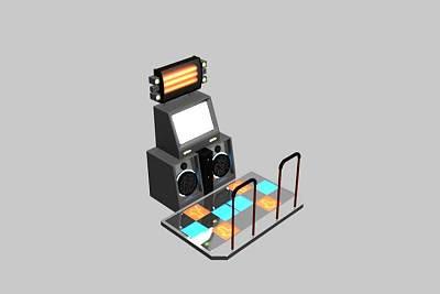 时尚的3D跳舞机模型下载