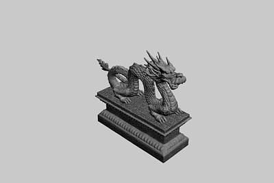 雕塑品-中国龙3D模型
