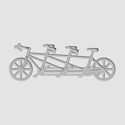 3人自行车