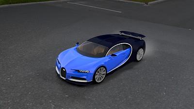 跑车 bugatti-chiron