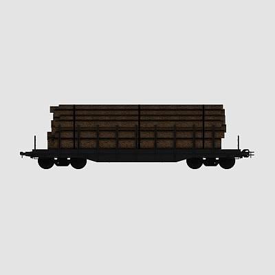 拉木材的火车