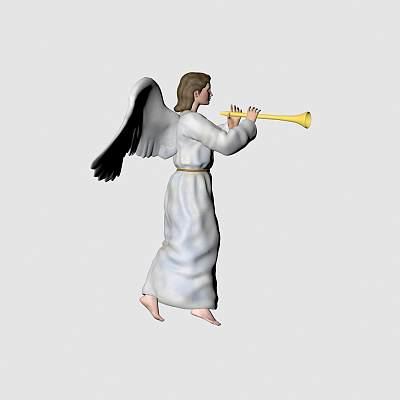 吹号角的天使