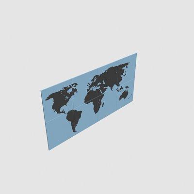 Panel-world-map