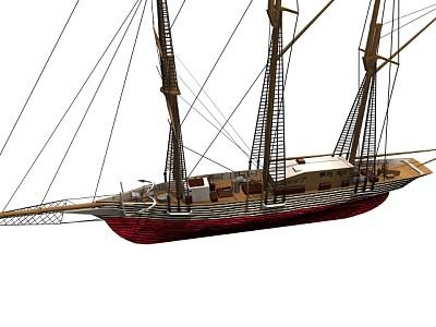 三桅杆货船